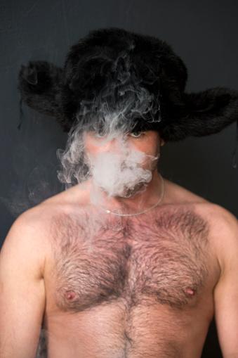 Ziegfeld Follies vintage nude photo print poster smoking