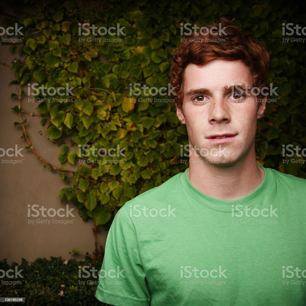 Portrait of Man with Red Hair royalty-free stock photo
