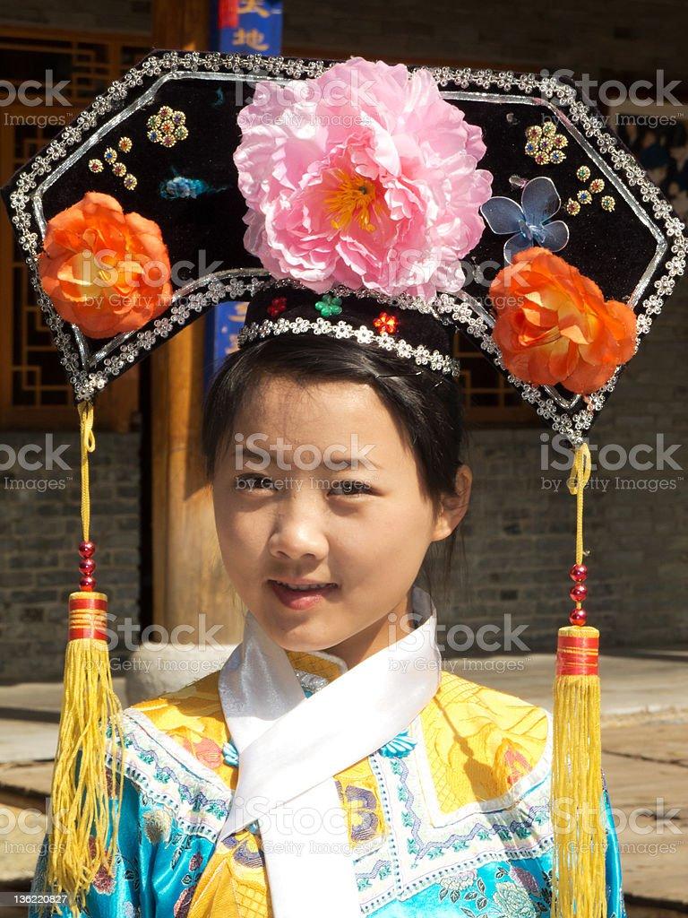 Portrait of manchurian woman stock photo