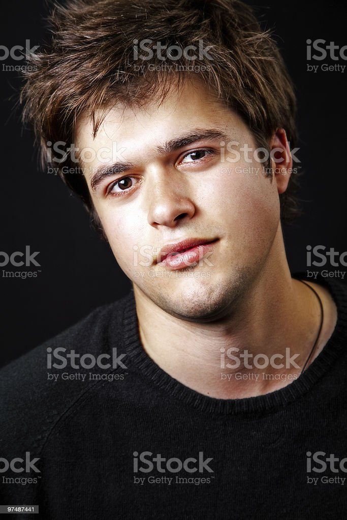 Portrait of masculine handsome young man royalty-free stock photo