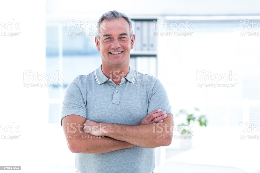 Portrait of masseur standing in spa - foto stock