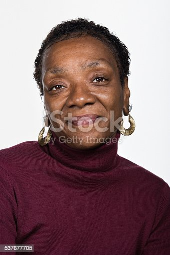 istock Portrait of mature african american woman 537677705