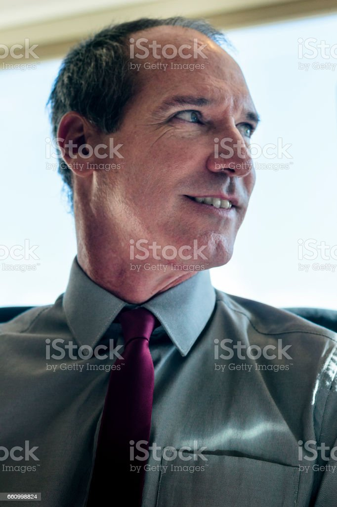 Portrait of mature business man stock photo