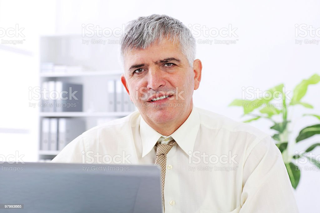 Portrait of mature businessman. royalty-free stock photo