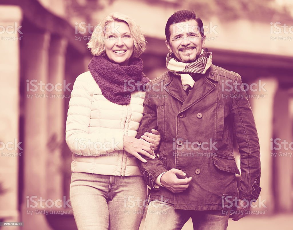 Portrait of mature couple outdoors royalty-free stock photo