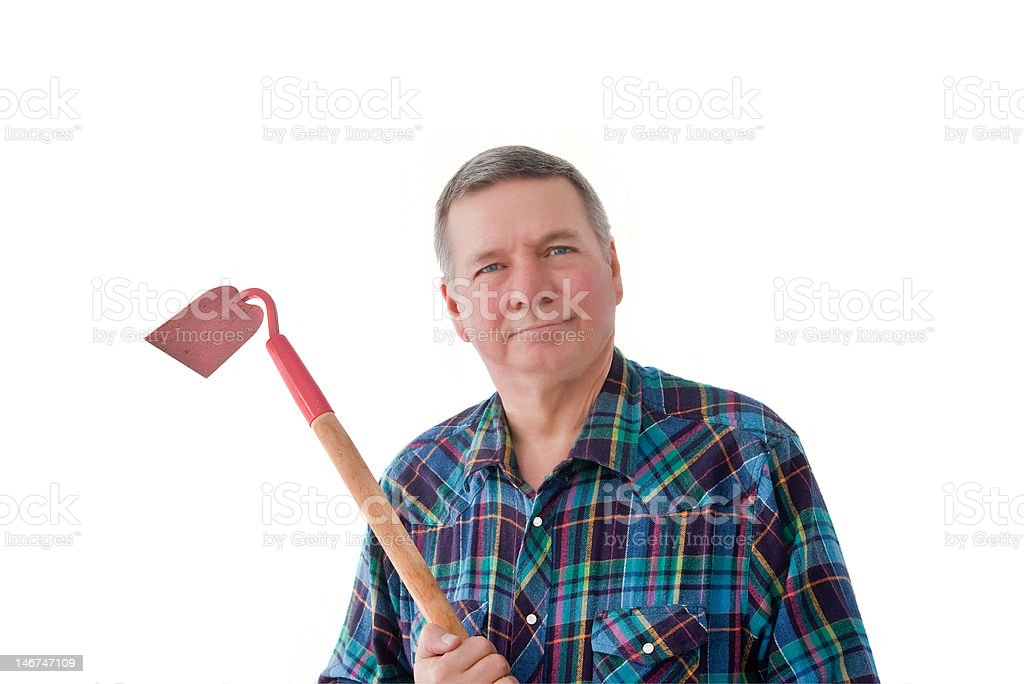 Portrait of Mature Gardener royalty-free stock photo