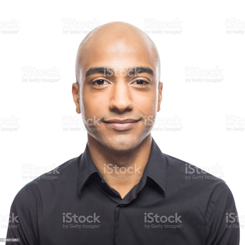 Portrait of mature hispanic man stock photo