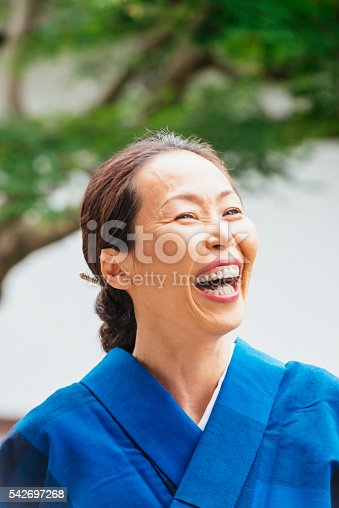 519052198 istock photo Portrait of Mature Japanese Business Woman in Kyoto Japan 542697268