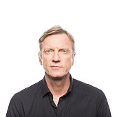 istock Portrait of mature man in black shirt 805011386