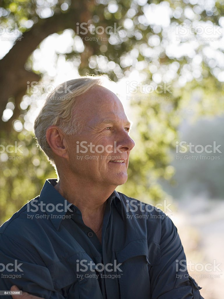 Portrait of mature man  royalty-free stock photo