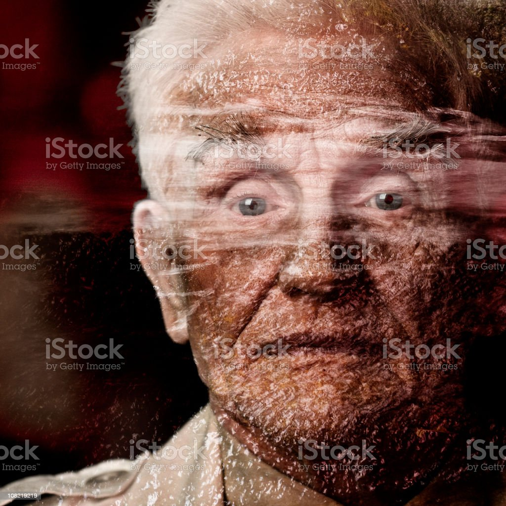 Portrait of Mature Man, Textured royalty-free stock photo