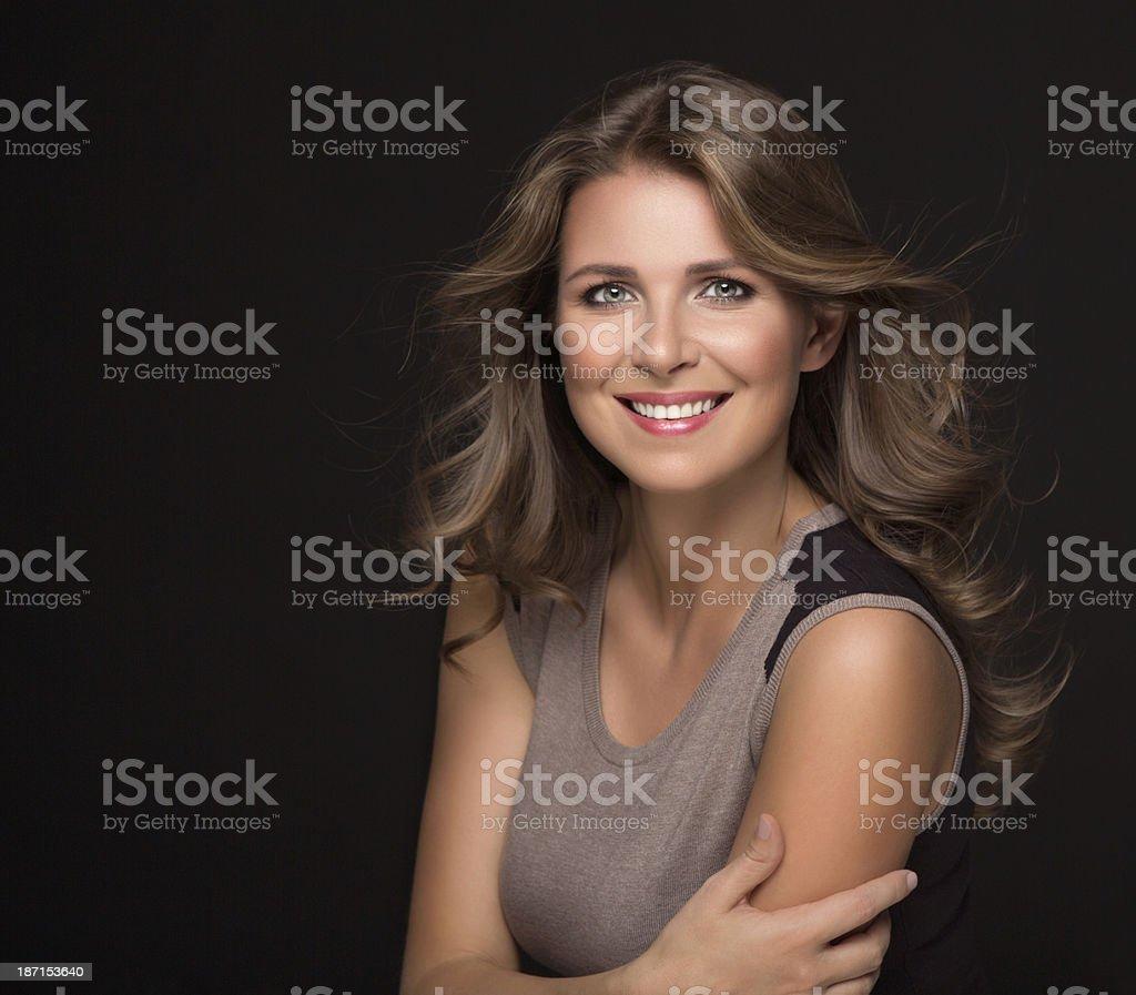 Portrait of mature woman. stock photo