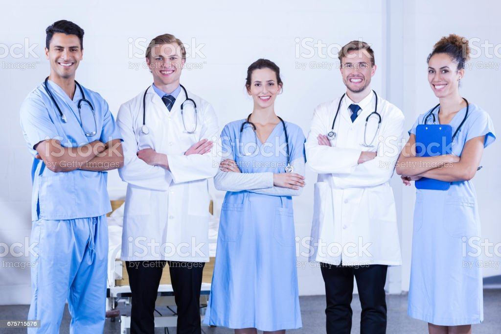 Portrait of medical team standing together royalty-free stock photo