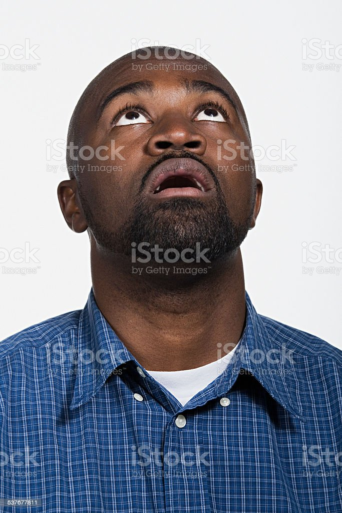 Portrait of mid adult african american man stock photo
