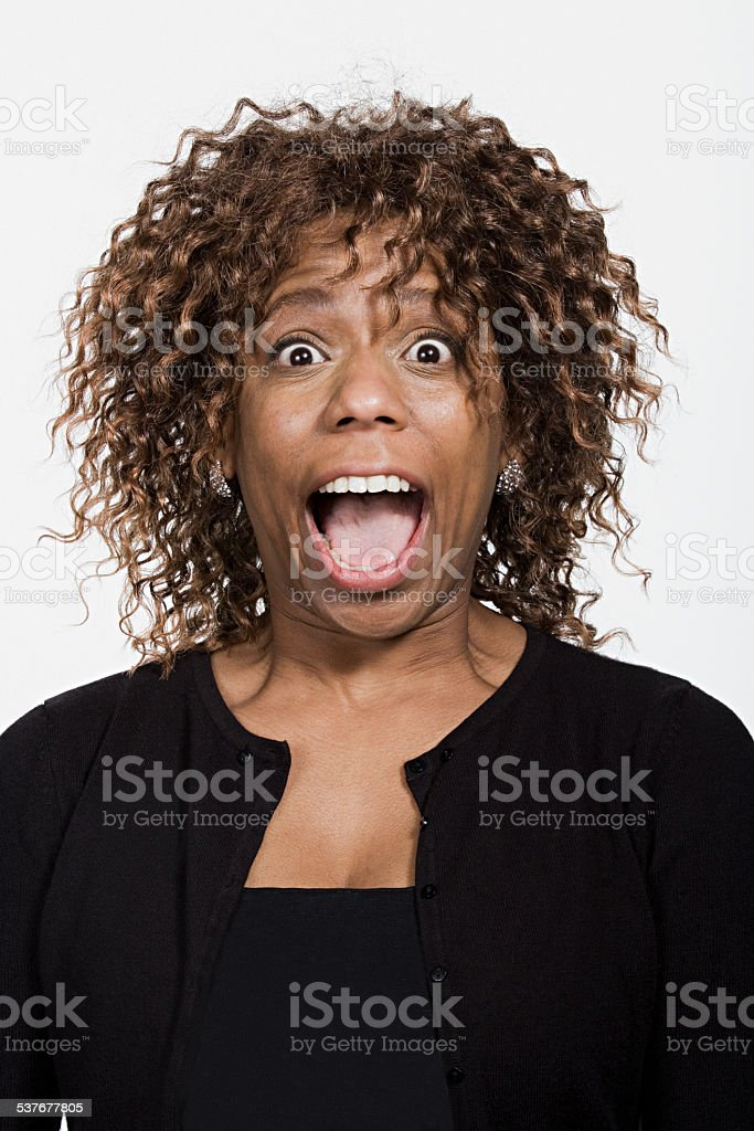 Portrait of mid adult african american woman stock photo