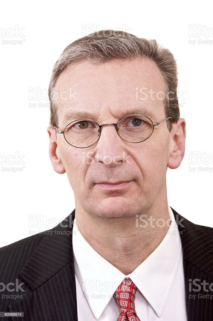 portrait of middle management  male royalty-free stock photo