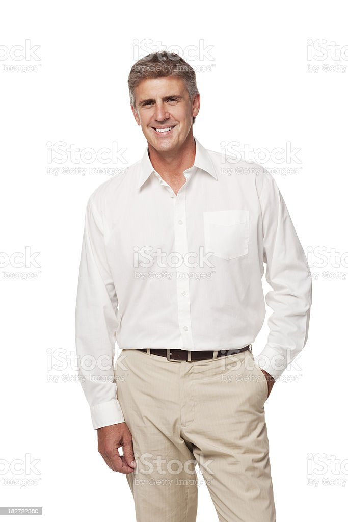 Portrait of Middle-Aged Man. Isolated stock photo