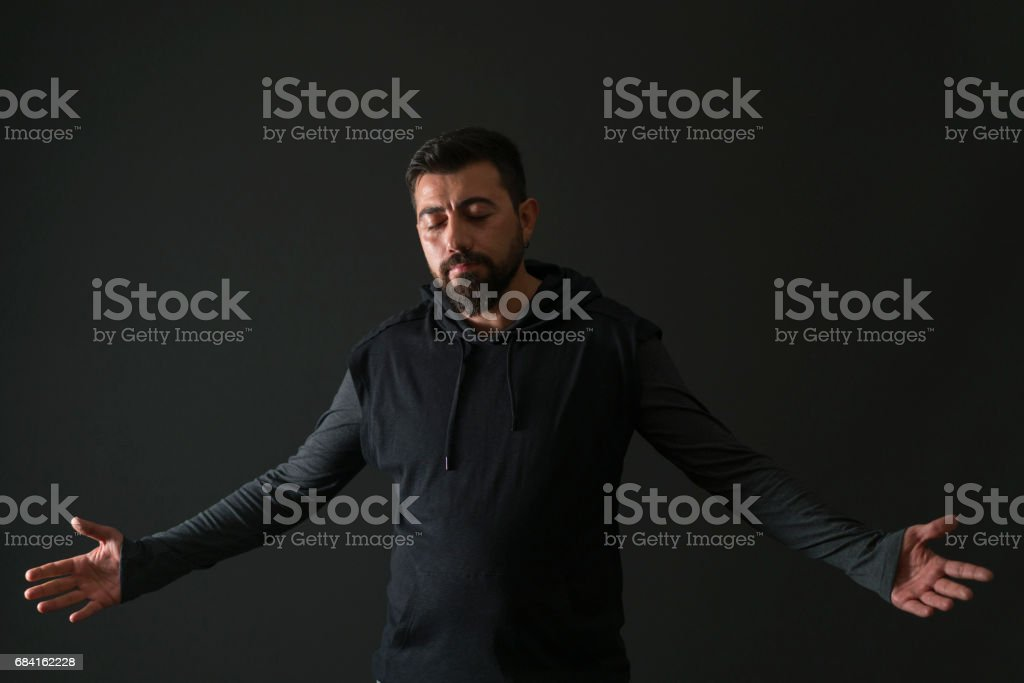 Portrait of middle-aged man royalty-free stock photo