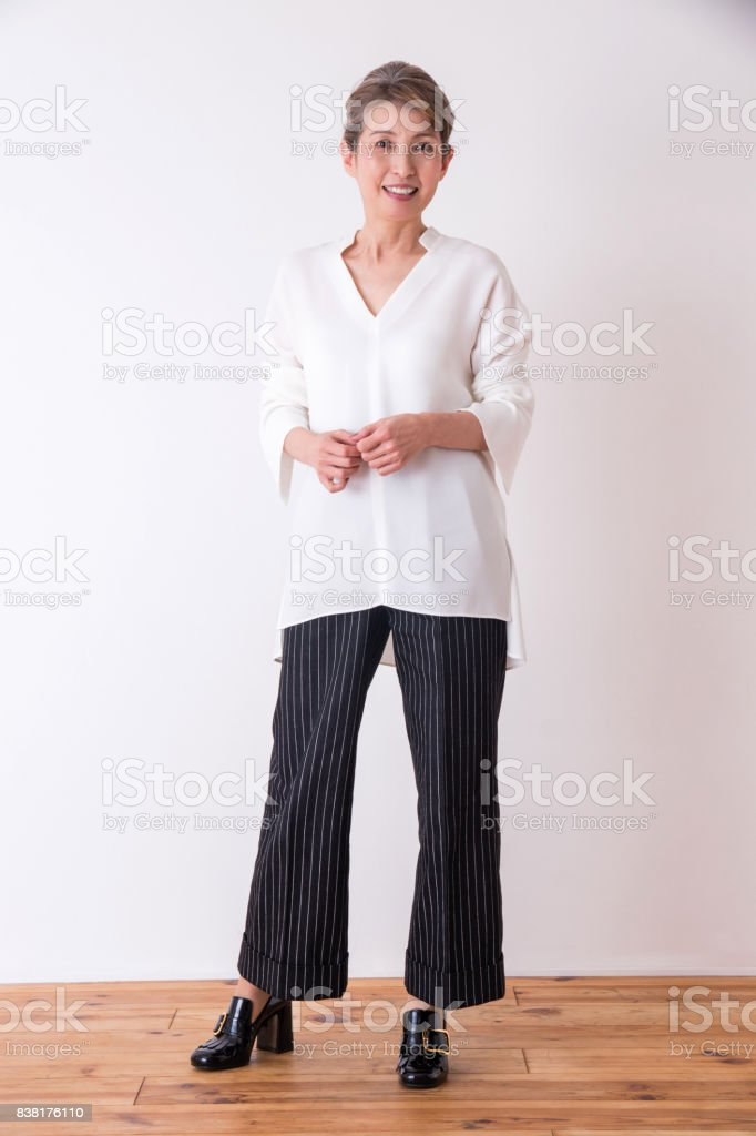 A portrait of middle-aged women. stock photo