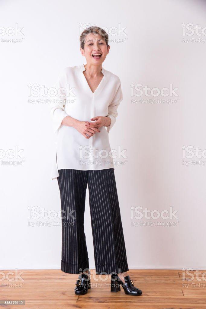 中年女性のポートレイト ストックフォト