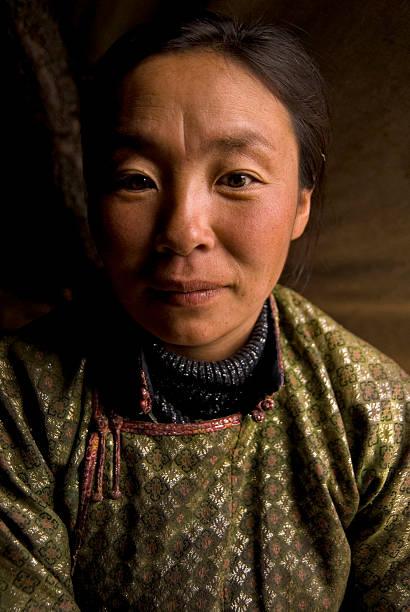 porträt von mongolischen schamane frau - rawpixel stock-fotos und bilder