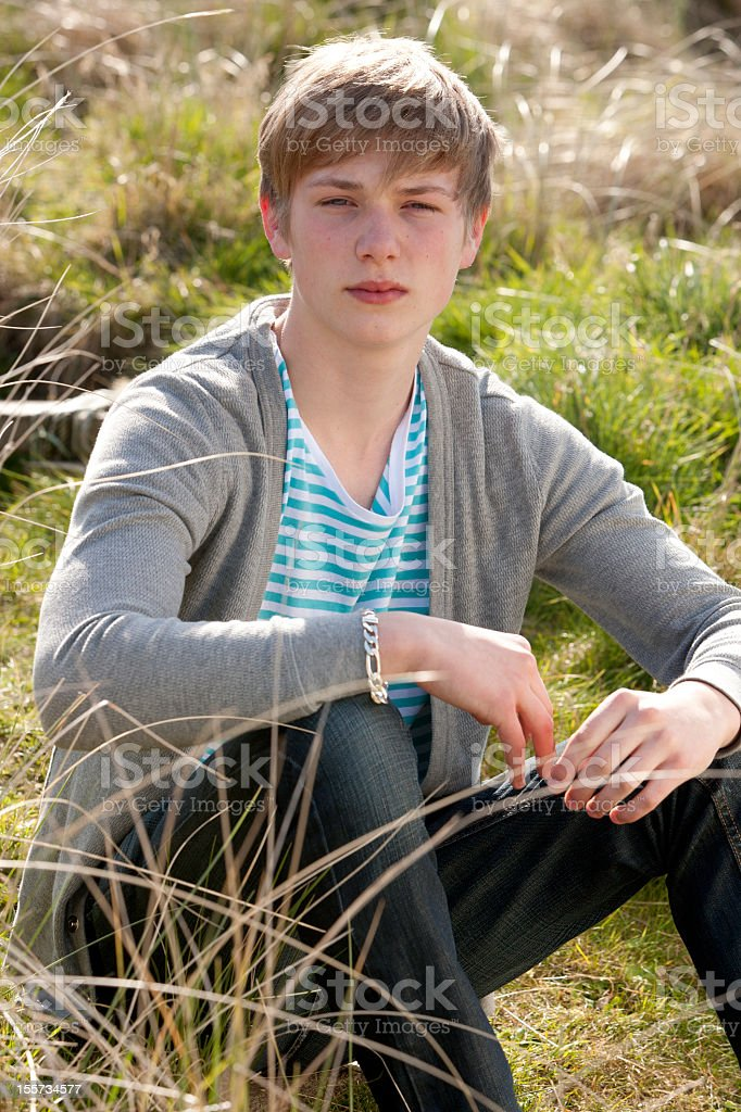 Portrait of Moody Teenager stock photo