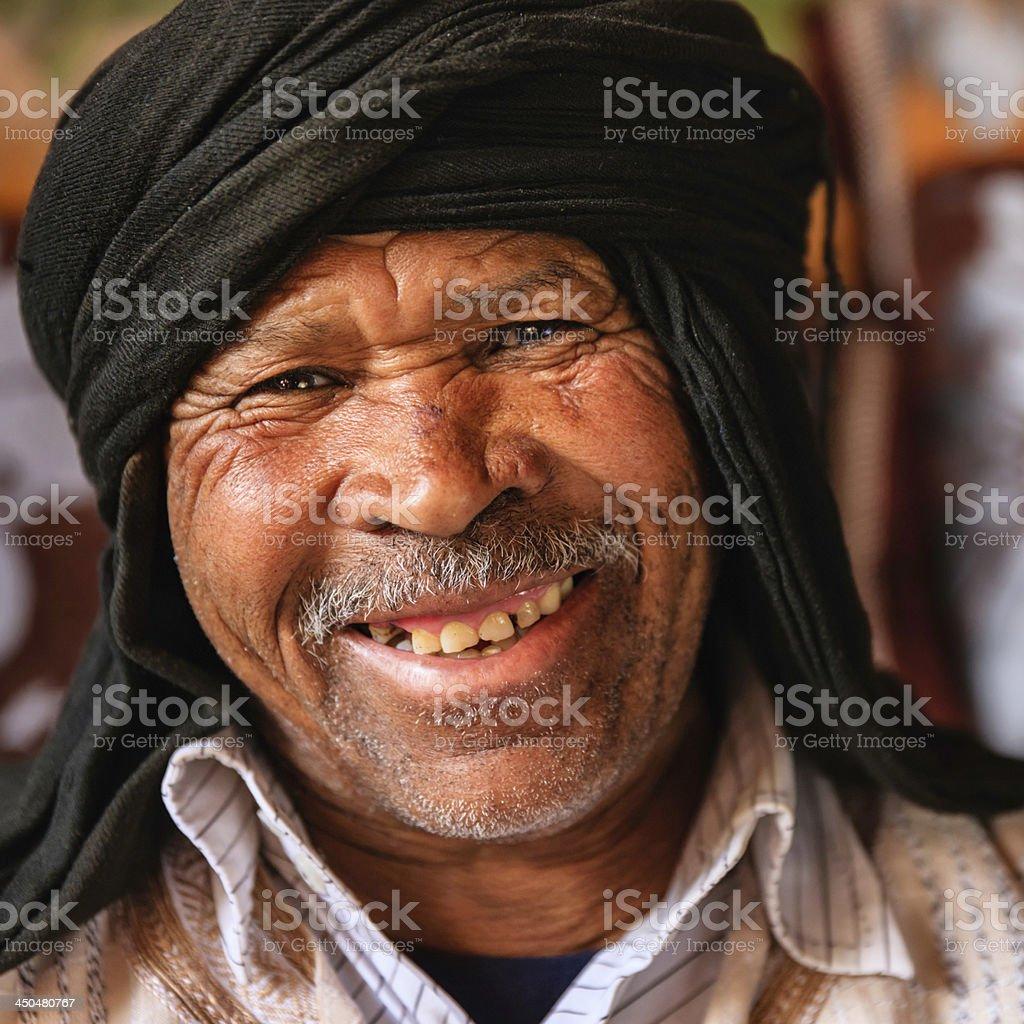 Portrait of Moroccan man stock photo