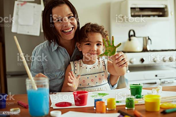 Portrait of mother and daughter painting picture id477310497?b=1&k=6&m=477310497&s=612x612&h=6r0o2upmxfymk9nu1qjahaado2zt4bjdztsh wupola=