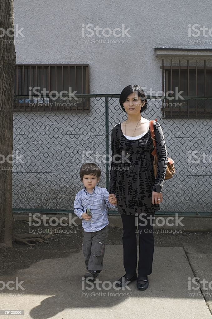 Portrait of mother and son 免版稅 stock photo