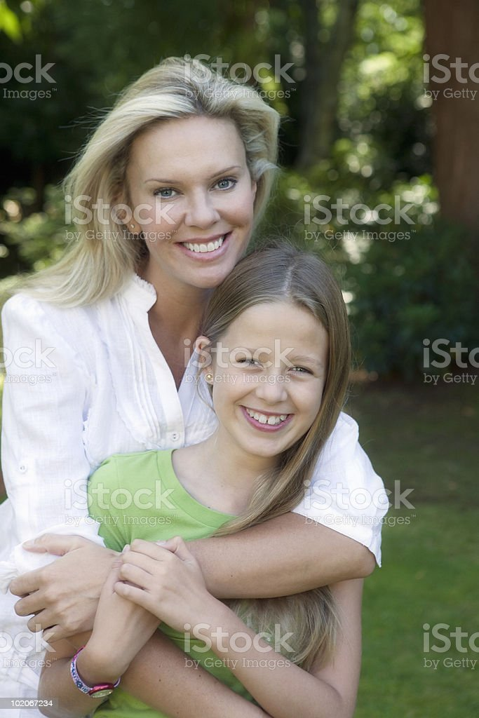 Portrait of Mother with Daughter royalty-free stock photo