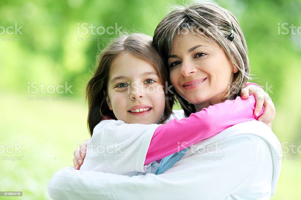 Portrait of mother with daughter royalty free stockfoto