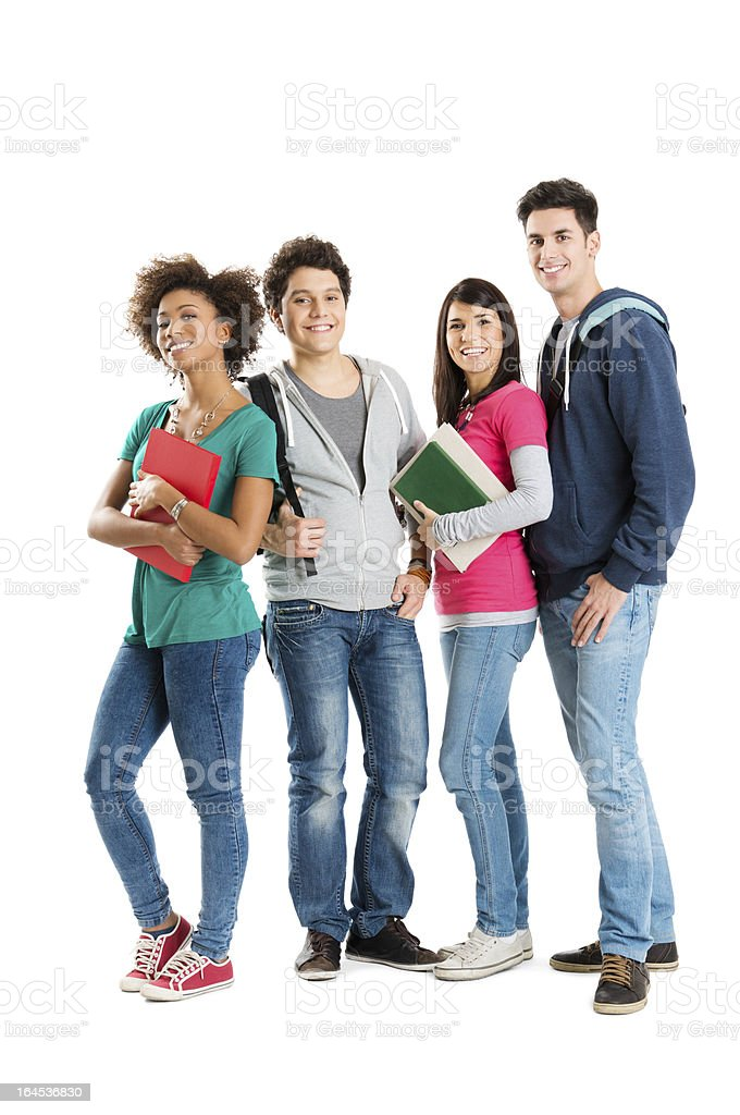 Portrait Of Multi Ethnic Students stock photo