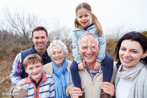 istock Portrait Of Multi Generation Family On Countryside Walk 510041209