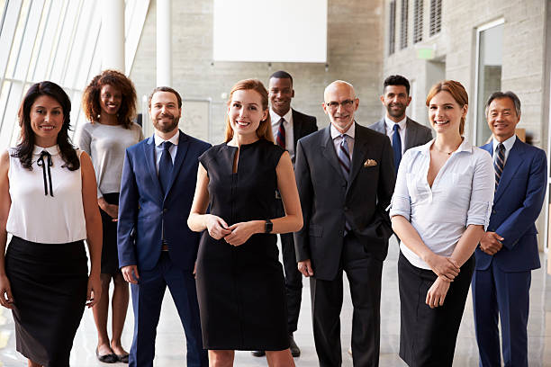 Portrait Of Multi-Cultural Business Team In Office stock photo