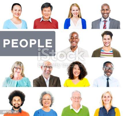 istock Portrait of Multiethnic Colorful Diverse People 487362067