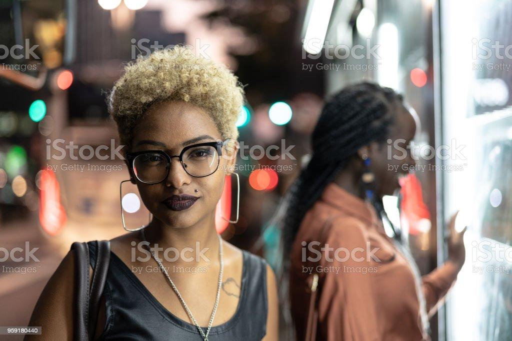 Portrait of Multi-Ethnic Friends stock photo