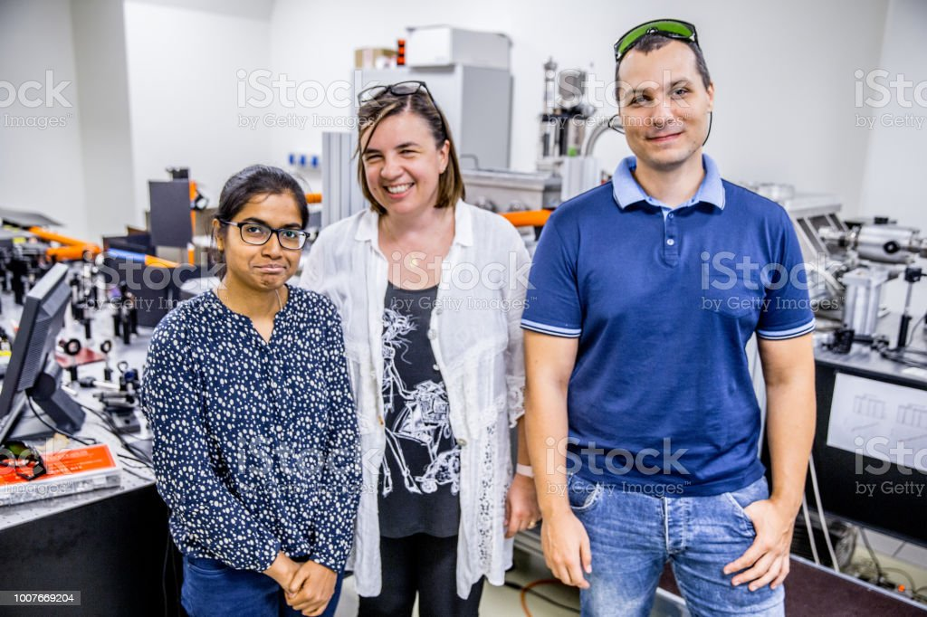 Portrait of Multi-ethnic Group  of Researchers in Laboratory stock photo