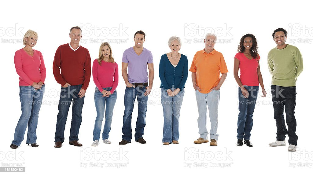 Portrait Of Multi-Ethnic Group stock photo
