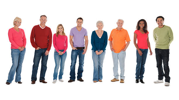 portrait of multi-ethnic group - 60 69 years stock photos and pictures
