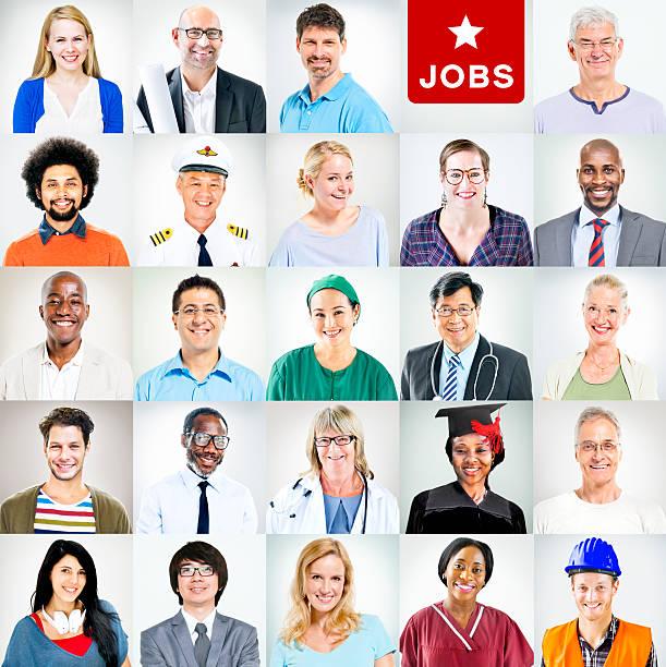 Portrait de multi-ethnique pratiquant activités personnes - Photo
