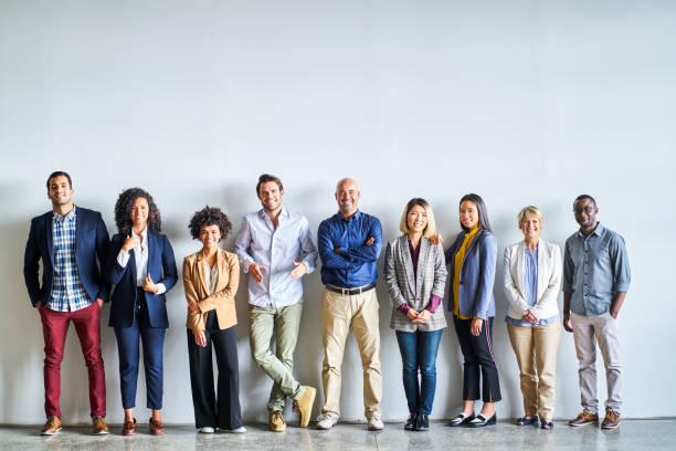 Portrait of multi-ethnic professionals at office stock photo