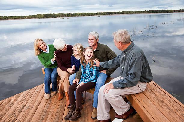 ポートレートの多世代家族 ストックフォト