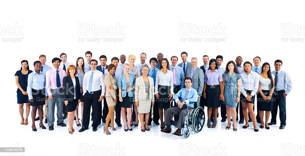 Portrait of multinational business people stock photo
