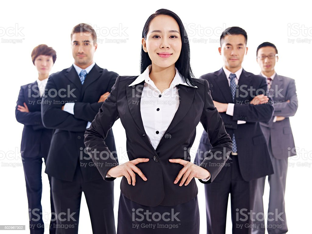 portrait of multinational business team stock photo