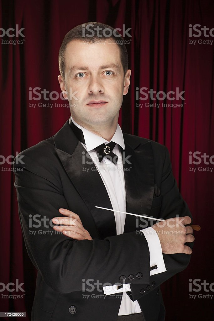 Portrait of music conductor royalty-free stock photo