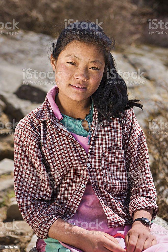 Portrait of Nepali girl royalty-free stock photo