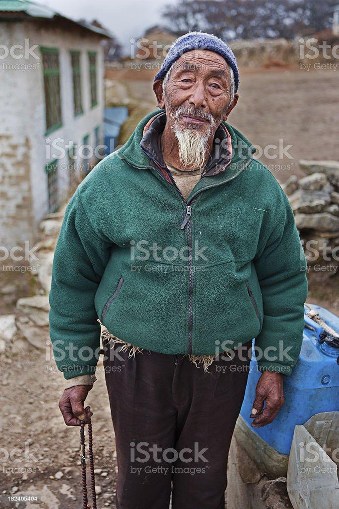 Portrait of Nepali sherpa royalty-free stock photo