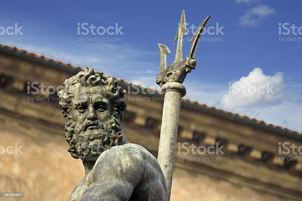 portrait of neptune - bologna stock photo