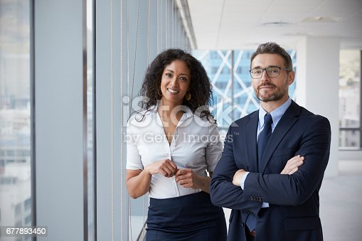 istock Portrait Of New Business Owners In Empty Office 677893450
