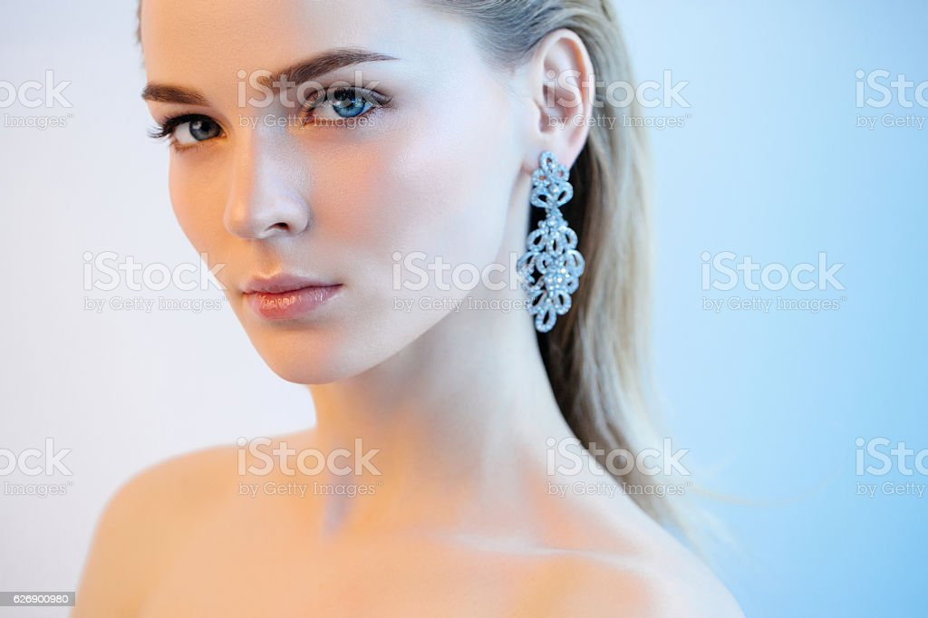 Portrait of nice looking woman stock photo